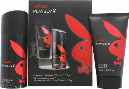 Playboy Vegas Playboy Confezione Regalo 150ml Gel Doccia + 150ml Deodorante Spray
