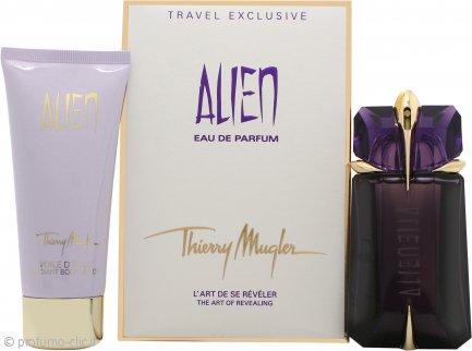 Thierry Mugler Alien Confezione Regalo 60ml EDP Spray Ricaricabile + 100ml Lozione Corpo