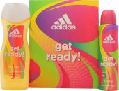 Adidas Get Ready! For Her Confezione Regalo 75ml EDT + 250ml Gel Doccia