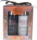 Style & Grace Glitz & Glam Mini Glow Confezione Regalo 100ml Lozione Corpo + 100ml Bagnoschiuma + 15g Spugna a Fiore