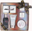 Style & Grace Glitz & Glam Sparkly Does It! Confezione Regalo 80ml Bagnoschiuma + 60ml Body Butter + 120ml Body Polish + 2 x 35g Saponette da Bagno + Telo Viso