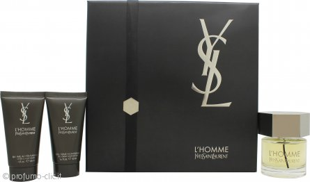 Yves Saint Laurent L'Homme Confezione Regalo 60ml EDT + 50ml Balsamo Dopobarba + 50ml All-Over Gel Doccia