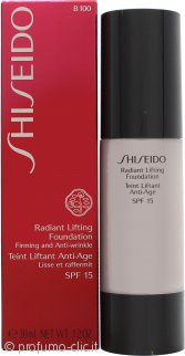 Shiseido Radiant Lifting Fondotinta 30ml SPF17 - B100 Very Deep Beige