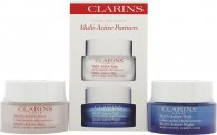Clarins Multi Active Confezione Regalo 50ml Day Early Wrinkle Crema Correttiva + 50ml Night Youth Recovery Comfort Crema