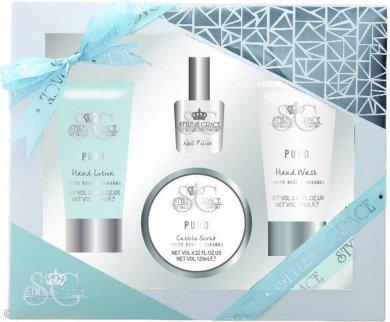 Style & Grace Puro Hand Pamper Kit 70ml Detergente Mani + 70ml Lozione Mani + 120ml Scrub Cuticole + 8ml Smalto