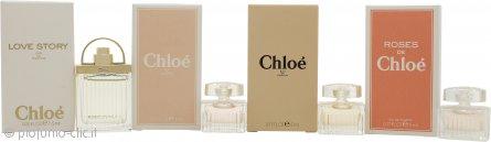 Chloe Miniatures Confezione Regalo 5ml L'eau de Chloe EDT + 5ml Roses De Chloe EDT + 5ml Chloe EDP + 7.5ml Love Story EDP