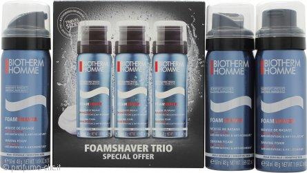 Biotherm Homme Confezione Regalo 3 x 50ml Schiuma da Barba Delicata