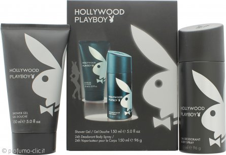 Playboy Hollywood Confezione Regalo 150ml Gel Doccia + 150ml Deodorante Spray