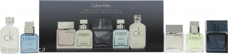 Calvin Klein Mini Set Confezione Regalo 10ml Euphoria Men + 10ml Eternity for Men + 10ml Encounter + 10ml Eternity Aqua for Men + 10ml CK One