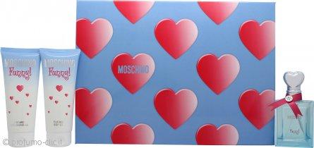 Moschino Funny Confezione Regalo 50ml EDT + 100ml Lozione Corpo + 100ml Bagnoschiuma & Gel Doccia