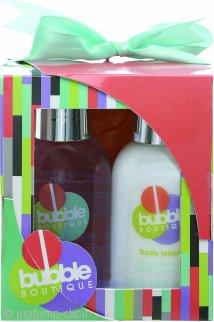 Style & Grace Bubble Boutique Mini Pamper Kit Confezione Regalo 100ml Bagnoschiuma + 100ml Lozione Corpo + Esfoliante da Doccia