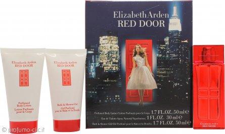 Elizabeth Arden Red Door Confezione Regalo 30ml EDT + 50ml Lozione Profumata per il Corpo + 50ml Bagnoschiuma & Gel Doccia