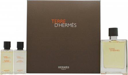 Hermes Terre D'Hermes Confezione Regalo 100ml EDT + 40ml Gel Doccia + 40ml Lozione Dopobarba