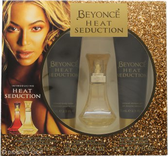 Beyoncé Heat Seduction Confezione Regalo 30ml EDT + 75ml Lozione Corpo + 75ml Gel Doccia