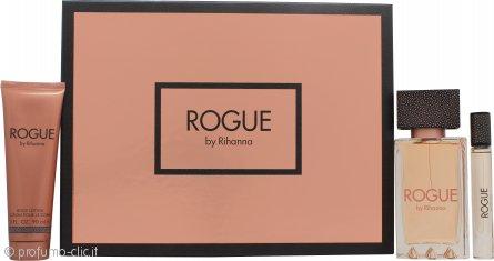 Rihanna Rogue Confezione Regalo 125ml EDP + 90ml Lozione Corpo + 6ml Roll-On