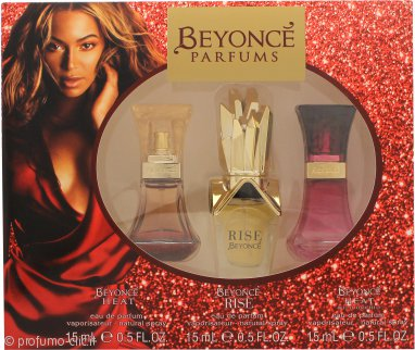 Beyonce Confezione Regalo 15ml Heat EDP + 15ml Rise EDP + 15ml Wild Orchid EDP