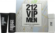 Carolina Herrera 212 VIP Men Confezione Regalo 100ml EDT + 100ml Bagnoschiuma & Gel Doccia + 150ml Deodorante Spray