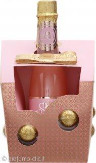 Style & Grace Utopia Champagne Bubbles Confezione Regalo 250ml Crema da Bagno in Bottiglia Stile Champagne + 6 Pearl Fizzers