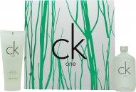 Calvin Klein CK One Confezione Regalo 200ml EDT + 200ml Lozione Corpo + 100ml Gel Doccia + 15ml EDT