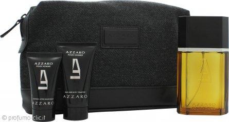 Azzaro Pour Homme Confezione Regalo 100ml EDT + 50ml Hair & Body Shampoo + 30ml Balsamo Dopobarba + Borsa