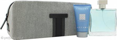 Azzaro Chrome Confezione Regalo 100ml EDT + 50ml All Over Shampoo + Beauty Case