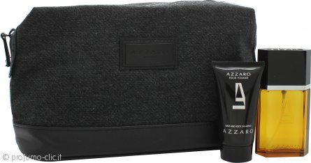 Azzaro Pour Homme Confezione Regalo 50ml EDT + 50ml Hair and Body Shampoo + Beauty Case