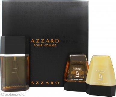 Azzaro Pour Homme Confezione Regalo 100ml EDT + 75ml Balsamo Dopobarba + 75ml Shampoo Corpo & Capelli
