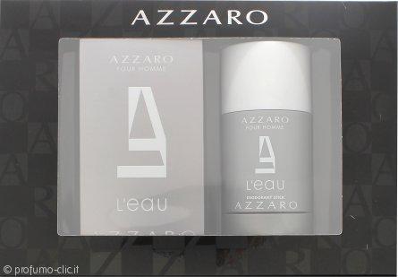 Azzaro Pour Homme L'Eau Confezione Regalo 50ml EDT + 75ml Deodorante Stick