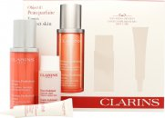 Clarins Mission Perfection Confezione Regalo 30ml Mission Perfection Siero + 30ml Gentle Exfoliating Brightening Tonico + 10ml Day Screen Multi-Protezione Giornaliera SPF50