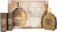 Diesel Fuel For Life Confezione Regalo 50ml EDT + 2 x 50ml Gel Doccia