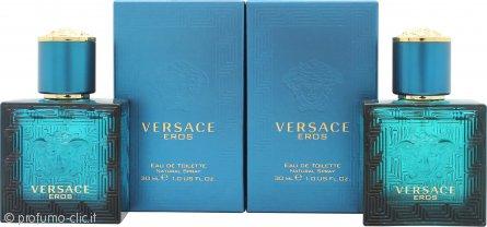 Versace Eros Confezione Regalo 2 x 30ml EDT Spray