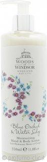 Woods of Windsor Blue Orchid & Water Lily Lozione Idratante Mani & Corpo 350ml