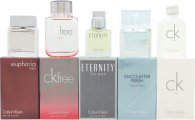 Calvin Klein Homme Confezione Regalo 5 x 10ml (Free Sport EDT + Eternity EDT + Euphoria Men EDT + Encounter Fresh EDT + CK One EDT)