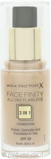 Max Factor Facefinity All Day Flawless 3 in 1 Fondotinta 30ml - SPF20 Pearl Beige 35