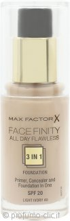Max Factor Facefinity All Day Flawless 3 in 1 Fondotinta SPF20 30ml - 40 Light Ivory