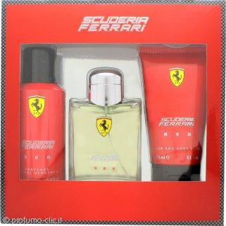 Ferrari Scuderia Ferrari Red Confezione Regalo 125ml EDT + 150ml Deodorante Spray + 150ml Shampo & Bagnoschiuma