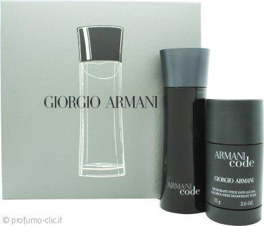 Giorgio Armani Code Confezione Regalo 75ml EDT + 75g Dedorante Stick