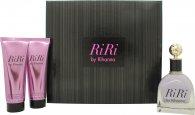 Rihanna RiRi Confezione Regalo 100ml EDP + 90ml Lozione Corpo + 90ml Gel Doccia