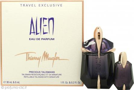Thierry Mugler Alien Confezione Regalo 30ml EDP Non-Ricaricabile + 6ml EDP