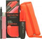 Revlon Love Series Essentials Confezione Regalo 1 x All-in-One Mascara + 1 x Balm Stay + 1 x ColorStay Eyeliner + Borsa per il Trucco