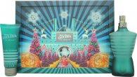 Jean Paul Gaultier Le Male Confezione Regalo 125ml EDT + 75ml All Over Gel Doccia (Edizione Natalizia)