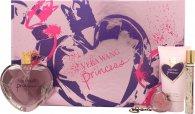 Vera Wang Princess Confezione Regalo 100ml EDT + 10ml Rollerball + 75ml Lozione Corpo + Lucidalabbra