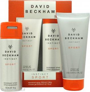 David Beckham Instinct Sport Confezione Regalo 150ml Deodorante Body Spray + 200ml Shampoo & Bagnoschiuma