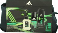 Adidas Sport Field Confezione Regalo 100ml EDT + 150ml Body Spray + 250ml Gel Doccia + Borsa
