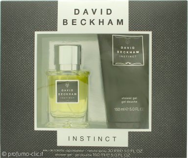 David Beckham Instinct Confezione Regalo 30ml EDT + 150ml Shampoo & Bagnoschiuma