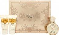 Versace Eros Pour Femme Confezione Regalo 50ml EDP + 50ml Lozione Corpo + 50ml Gel Doccia