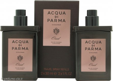 Acqua di Parma Oud Confezione Regalo 2 x 30ml EDC Ricariche da Viaggio