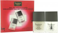 Butter London Nail 999 Rescue System Confezione Regalo 11ml Topcoat + 11ml Basecoat