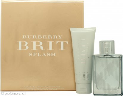 Burberry Brit Splash Confezione Regalo 50ml EDT + 75ml Gel Doccia