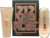 Carolina Herrera 212 VIP Rosé Confezione Regalo 80ml EDP Spray + 100ml Lozione Corpo
